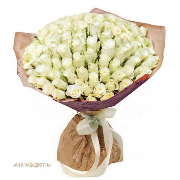 """Букет """"Из 101 белой розы"""""""