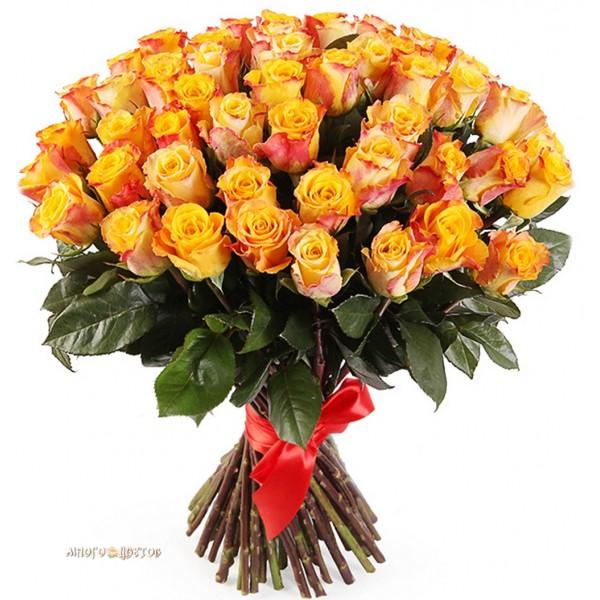 Букет из 75 роз
