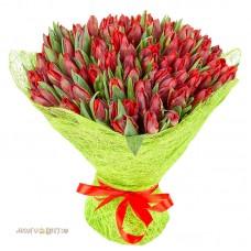 """Букет """"Красные тюльпаны"""""""